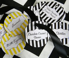 Candy Bar / Buffet Tags Round YOU DESIGN by sweetsanity on Etsy, $10.00