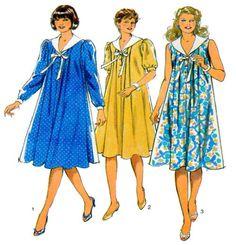 Maternity Dress Sewing Pattern Style 3848 Long, Short/sleeveless, Button Front…