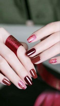 Pretty Nail Art, Cute Nail Art, Cute Acrylic Nails, Nail Art Diy, Cute Nails, Nail Art Designs Videos, Nail Art Videos, Minimalist Nails, Minimalist Style
