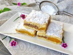 Raspberrybrunette: Linecký orechový koláč s ovocím