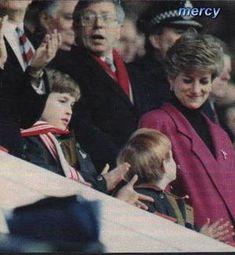 Princess Diana , William and Harry at Football Match _