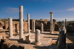 Ancient ruins in Delos, a tiny island off the coast of Mykonos, Greece. Ideal for a #cruise shore excursion.
