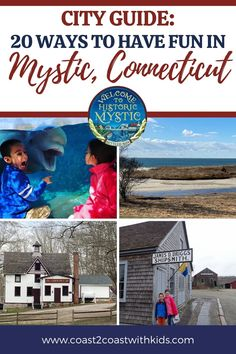 20 ways to have fun throughout the Mystic, Connecticut area that the whole family will love! Mystic Connecticut, Road Trip Across America, Us National Parks, Seaside Towns, Family Adventure, City Guides, Amazing Adventures, Usa Travel