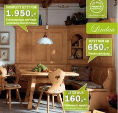 Eckbankgruppe Lindau In Massiver Fichte 1 Eckbank 195/195 , Gerade  Kasetten, Starker Sitz