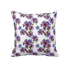 Travesseiro decorativo floral do teste padro