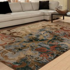 Carolina Weavers Brilliance Collection Papyrus Multi Area Rug (7'10 x 10'10) (7 ft 10 in x 10 ft 10 in), Brown, Size 8' x 10' (Plastic, Oriental)
