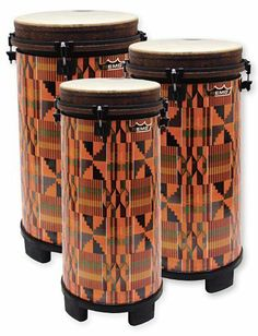Remo 100 Series Key-Tuned Tubano Set of 3, Kinte Kloth Finish by Remo. Save 42 Off!. $570.00. Tunable drums have the advantage of allowing you to adjust the pitch to your own preference. Tubanos are a Remo Drum Company exclusive. Conga-like in sound, the tubano features an internal resonating tube and four molded feet to allow full resonance without using a floor stand or tilting the drum. The Acousticon shell is manufactured from recycled hardwood fibers and is unaffected by climatic…