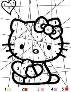 Coloriage magique multiplication n 2 mandala pour pelautscom coloriage magique pinterest - Coloriage hello kitty et mimi ...
