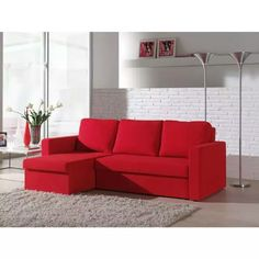sofa L Canapé Convertible Design, Canapé Angle Convertible, Canapé Design, Sofa Design, House Design, Living Room Red, Living Room Decor, Types Of Sofas, Red Rooms