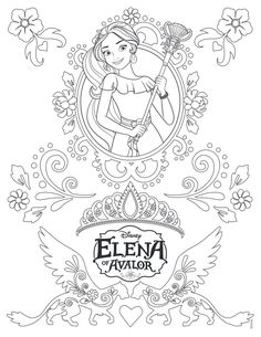 http://colorings.co/elena-of-avalor-coloring-pages/ #Pages, #Coloring