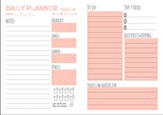 DIY: Use our free daily planner printable to get your life in order  | lifestyle feature ddg diy  picture