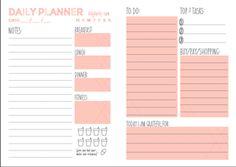 DDG DIY: Nutzen Sie unseren kostenlosen Tagesplaner druckbare um Ihr Leben in Ordnung zu bringen   Lifestyle verfügen ddg diy Bild