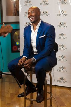 Who can resist this smile? Actor Morris Chestnut being interviewed at DESTINY Premiere Party October 10, 2015.