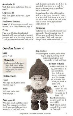 Gnome - free crochet doll pattern (little man, beard, santa, hat, tiny, boots, garden)