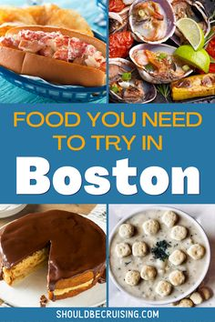 Boston is well-known for its amazing seafood. But, Boston's rich history as one of the US' oldest cities has given it a wealth of iconic traditional recipes. It's not all fish!  Whether you're visiting Boston for a day trip on a cruise or spending a longer vacation in the city, there's tons of amazing Boston food you need to try.   #boston #visitboston #travel #foodie #foodtravel #shouldbecruising