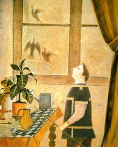 Balthus. The child with pigeons 1959