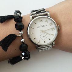 Fringe bracelet by Angélica - Black