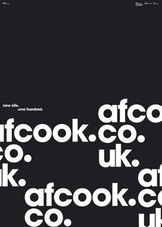 """newsite launch a2 typo"" by this studio / united kingdom"