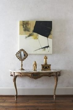 The Decorista-Domestic Bliss: art + room: ABSTRACT is the ANSWER