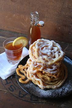 May Day Sweets: Sima and Tippaleipä - Finnish Funnel Cake and Lemon Soda - Saveur.com  #Finland http://sco.lt/7k8DdR