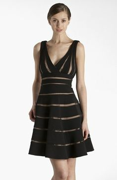 JS Collections 'Ottoman' Sleeveless Fit & Flare Dress | Nordstrom