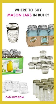 Buy Mason jars in bulk (wholesale). Learn where to buy beautiful mason jars in bulk. Just click the pin above!