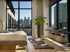 green plant modern loft interior design