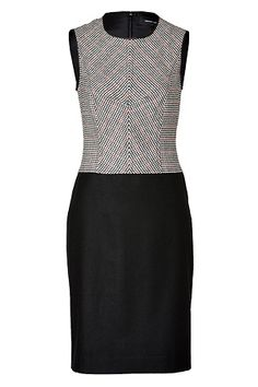 STYLEBOP.com   Black-MultiHoundstoothWoolStretchDressbyDEREKLAM   the latest trends from the capitals of the world