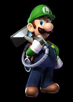 Luigi- the other Mario brother (Luigi's Mansion: Dark Moon) via Nintendo Super Mario Bros, Super Mario World, Super Mario Brothers, Super Smash Bros, Gamify Your Life, Luigi Mansion, Luigi's Mansion Dark Moon, Luigi Costume, Mario Bros