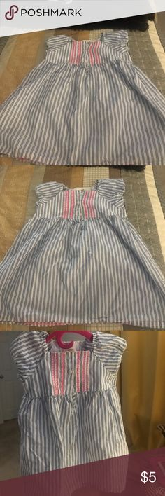 Little girls dress White blue with a little pink pinstripe dress Dresses Casual
