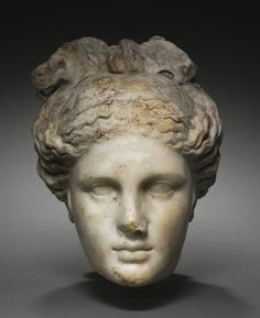 Head of Aphrodite, Italy, Roman, Century marble, Overall: h. Gift of J. Wade Location: 103 Roman The Cleveland Museum of Art Roman Sculpture, Stone Sculpture, Sculpture Clay, Art Romain, Ancient Greek Art, Ancient Rome, Ancient Near East, Cleveland Museum Of Art, Roman Art