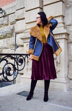 Zimowy kożuch uszyty z wykroju Burda 10/2012 Burda Patterns, Sewing, Coat, Jeans, Model, Blog, Dressmaking, Sewing Coat, Couture