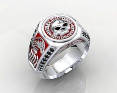 Harley Davidson MotorCycles Sterling Silver 925 by PiettroJewelry