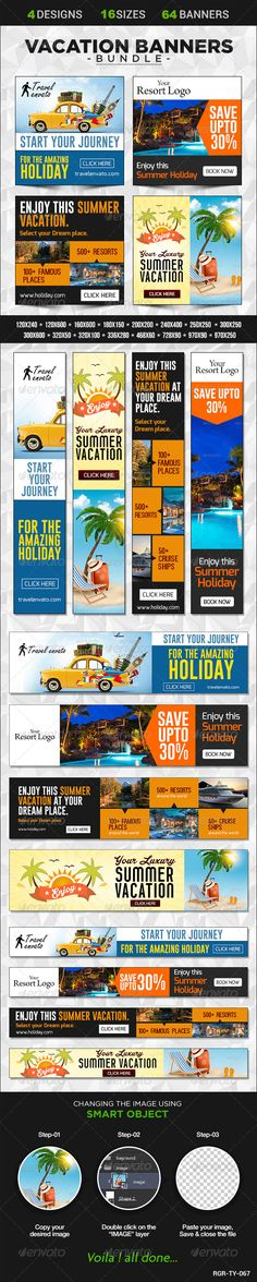 Vacation Banner Bundle Template PSD | Buy and Download: http://graphicriver.net/item/vacation-banner-bundle-4-sets/8586068?WT.ac=category_thumb&WT.z_author=BannerDesignCo&ref=ksioks