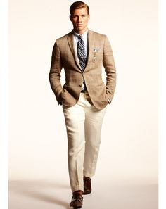 Again with the blazer & slacks look. I think it works the best with patterned blazers. Ralph Lauren | The GQ Spring 2013 Trend Report