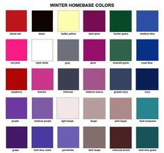 Deep Winter Seasonal Color Palette