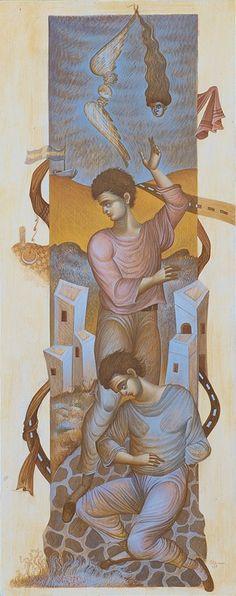 Tempera 2 – GEORGE KORDIS Tempera, Religious Art, Figurative, Greece, Street Art, Egg, Illustration Art, Dance, My Favorite Things