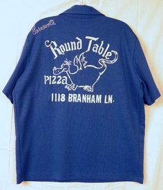 Vintage 70's ROUND TABLE PIZZA Bowling Shirt Men's L | Endangered Clothing