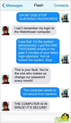 Marvel Funny, Marvel Memes, Funny Comics, Marvel Dc, Superman And Spiderman, Batman Comics, Dc Comics, Superhero Texts, Avengers Texts