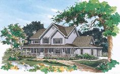 Farmhouse+House+Plan+with+2290+Square+Feet+and+4+Bedrooms+from+Dream+Home+Source+|+House+Plan+Code+DHSW37565