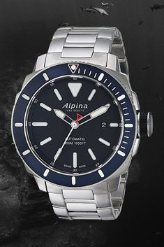 Alpina SeaStrong Diver - Fit Stop Garage Alpina Watches, Field Watches, Automatic Watches For Men, Iwc, Seiko, Vintage Watches, Omega Watch, Diving, Rolex