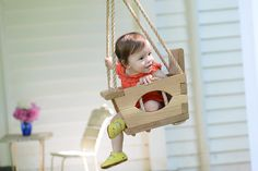 Set them soaring in a handmade swing.