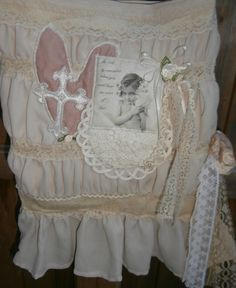 Shabby Chic Purse Romantic Victorian Cottage by CrossMyHeartBags, $36.00