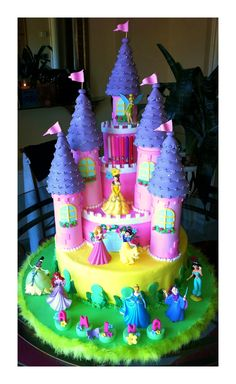 wow impressed Very detailes pink and purple castle with 7 spires