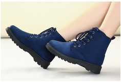 cheap faux leather blue winter snow boots for women