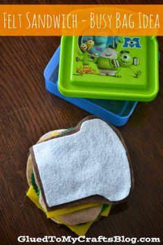 Business for kids - Felt Sandwich Busy Bag Idea – Business for kids Toddler Busy Bags, Toddler Fun, Toddler Learning, Toddler Games, Toddler Daycare, Toddler Stuff, Toddler Toys, Baby Toys, Kids Toys