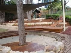 let the children play: Series: how to create irresistible play spaces for children Preschool Garden, Outdoor Play Spaces, Cat Playground, Playground Design, Playground Ideas, Sand Play, Outdoor Classroom, Outdoor Learning, Patio