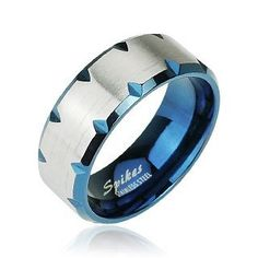 8mm 316L Stainless Steel Ring With Blue Ion Plated Fcceted Edge Accent; Comes With FREE Gift Box Jinique, http://www.amazon.com/dp/B007LQ8L2A/ref=cm_sw_r_pi_dp_OExFqb0FGT0X2