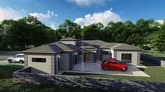 5 Bedroom House Plan - My Building Plans South Africa Split Level House Plans, Square House Plans, Metal House Plans, My House Plans, My Building, Building Plans, Home Design Plans, Plan Design, House Plans South Africa