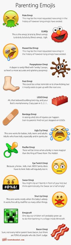Funny Parenting Emojis by How to Be a Dad
